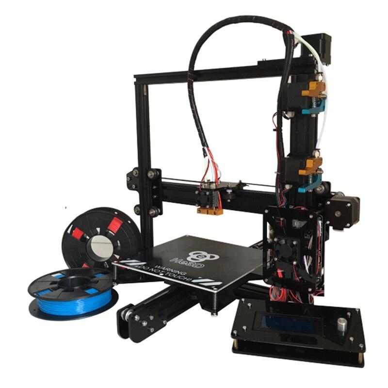 HE3D auto level EI3 dual flex extruder large 200*280*200 prusa i3 3d printer kit reprap-multi material filament support