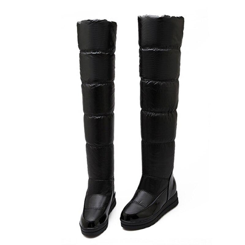 2016 new fashion flats long tube snow boots Down warm ...