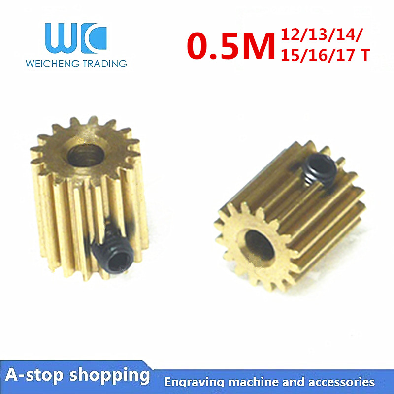10pc 0.5M 12/13/14/15/16/17 Teeth 0.5mod gear rack spur gear precision copper steel cnc pinion 15T Length (L) 12mm