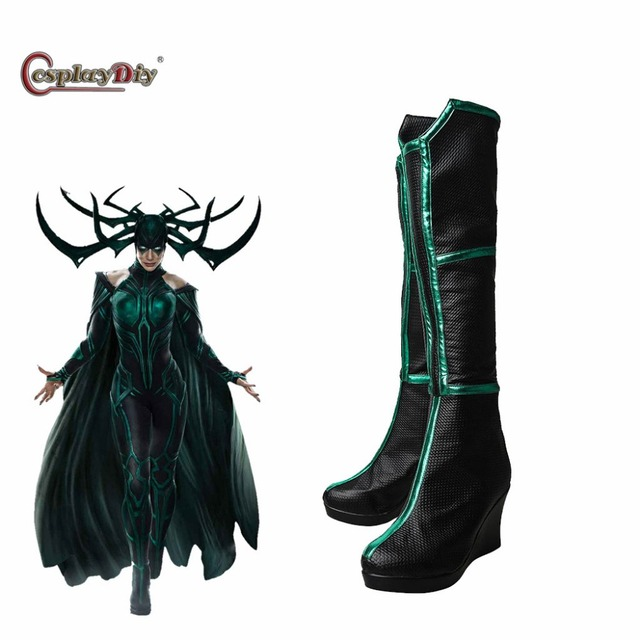 cosplaydiy thor 3 ragnarok cosplay trailer hela cosplay shoes sexy women boots halloween costumes accessories custom