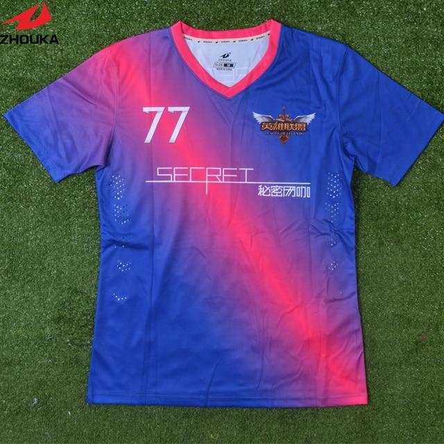 Impresión digital Fútbol desgaste personalizado nuevo modelo deportes  Jersey completa Impresión de sublimación digital 62409837975b4