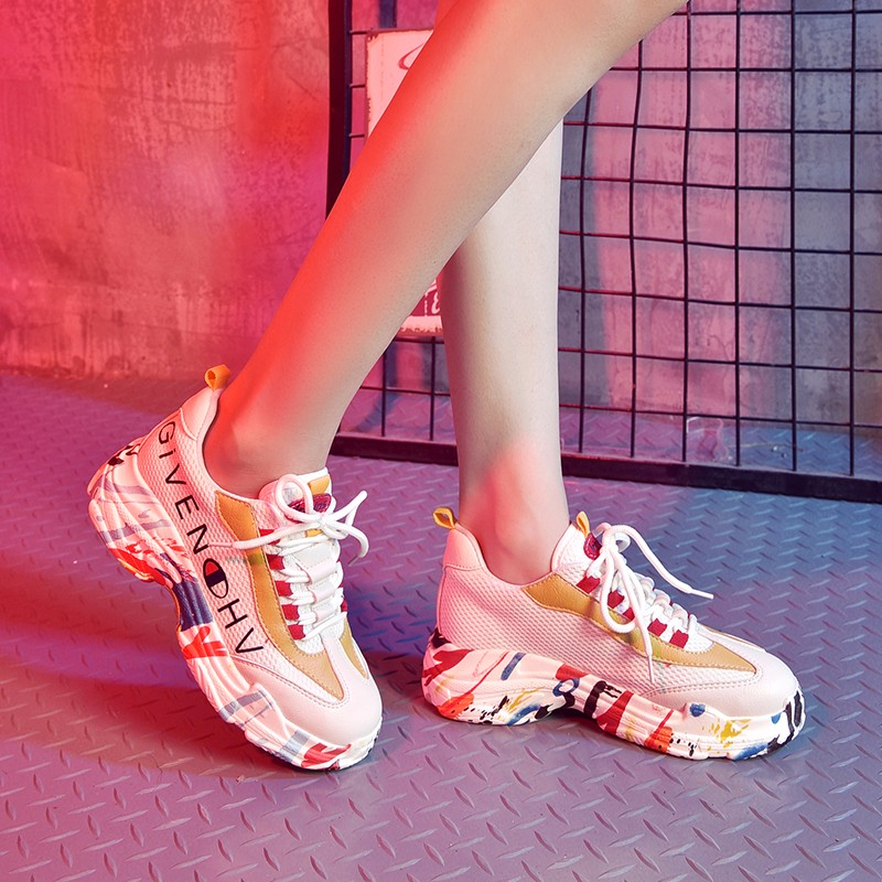 Pu Girl Student Outdoor Sports Shoes Women Sneakers Running