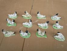 """12piece/lot !!! Art Collection Chinese Handmade Ceramic Carving """"12 different style love"""" Figurine"""