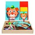 Woodentoys Magnetische Fünf sinne Puzzle Spielzeug Pädagogisches Spiele Für Childaren Oyuncak Zauber Musik Rompi Capoeducational