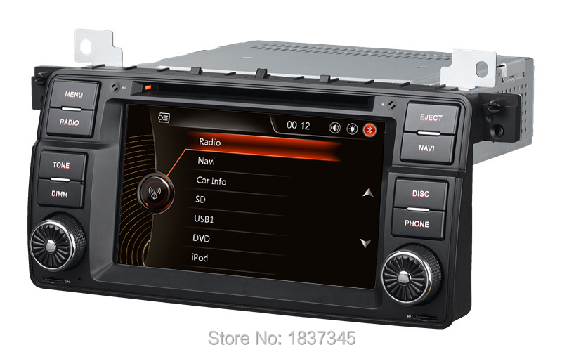 1 din 7 inch car dvd player for bmw car audio navigation. Black Bedroom Furniture Sets. Home Design Ideas