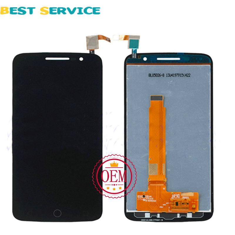 Black-Full-LCD-display-touch-screen-digitizer-assembly-For-Alcatel-One-Touch-Pop-2-Premium-7044