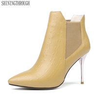 Женские Модные пикантные ботильоны из натуральной кожи на очень высоком каблуке со шнуровкой вечерние свадебные туфли на весну-осень