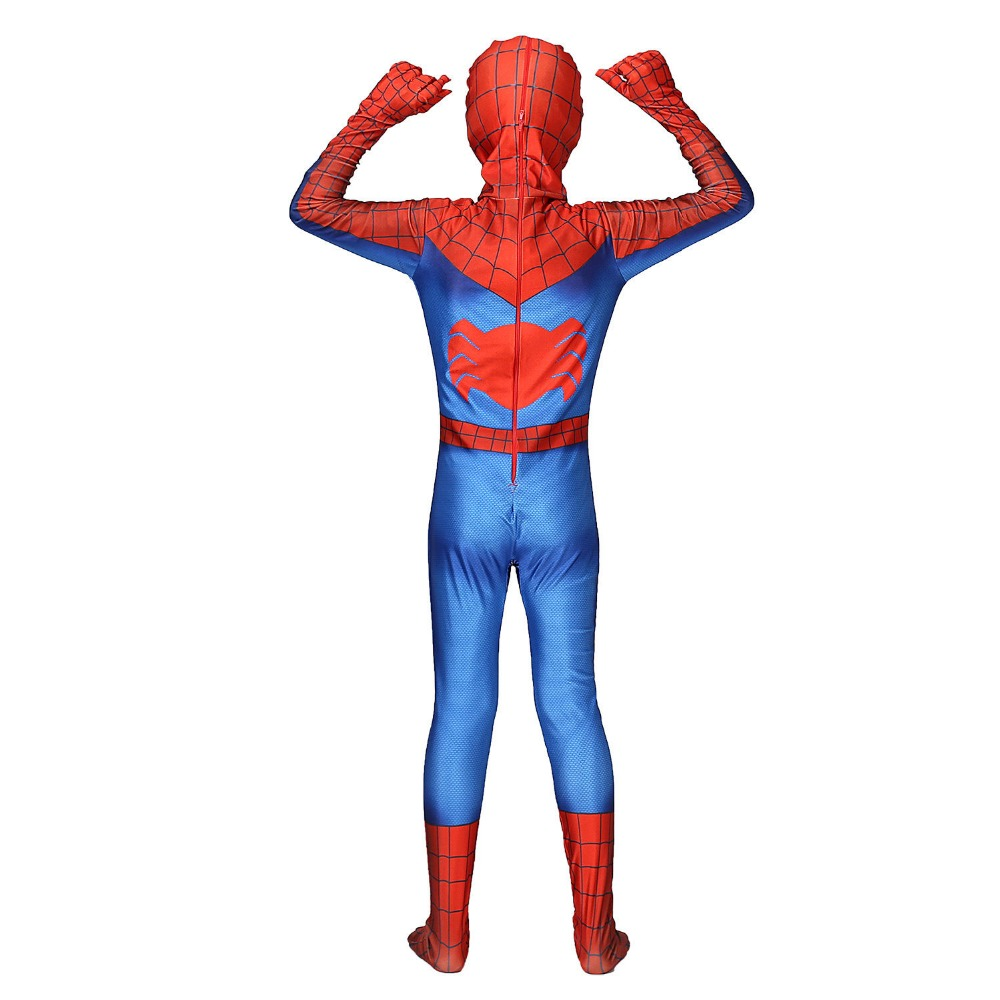 Red Spider-Man Homecoming Cosplay Costume Clothing Kids Adlut Halloween Party Spiderman Zentai Bodysuit Mask Jumpsuits