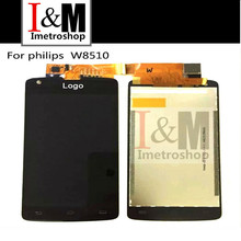 Black Display For Philips Xenium W8510 LCD Screen With Touch Screen Digitizer Assembly Replacement With Logo Brand New Phone LCD