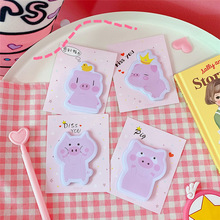 цена на SIXONE 30 Sheets Cartoon Lovely Piggy Sticky Note Creative Girl Notebook Signature of Student Notes stationery paper