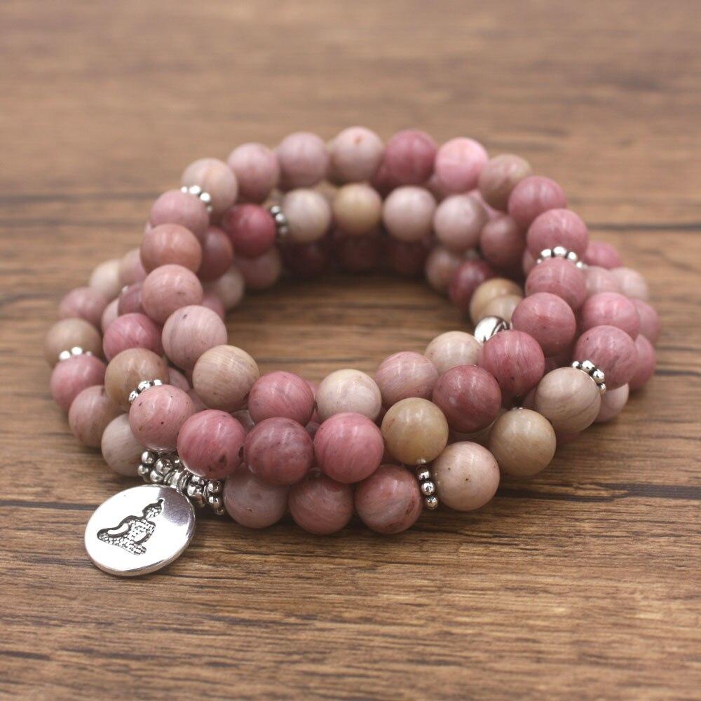 Rhodonite Mala Beads 1