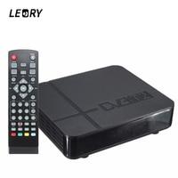 LEORYตั้งกล่องด้านบนHDทนทาน1080จุดDVB-T2ดิจิตอลวิดีโอภาคพื้นดินPVRรับสัญญาณทีวีกล่อง+การควบคุมระยะไ...
