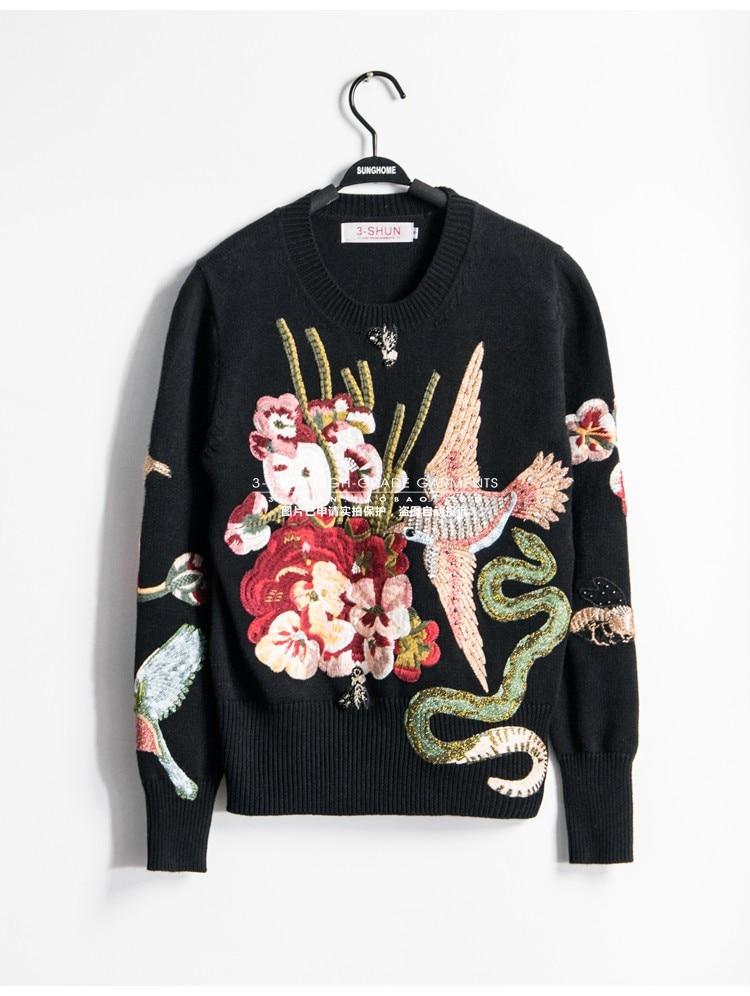 Femmes Chandails Marque Vêtements Mode Piste Design De S01745 Style Partie Luxe 2019 Européenne FcKJl1