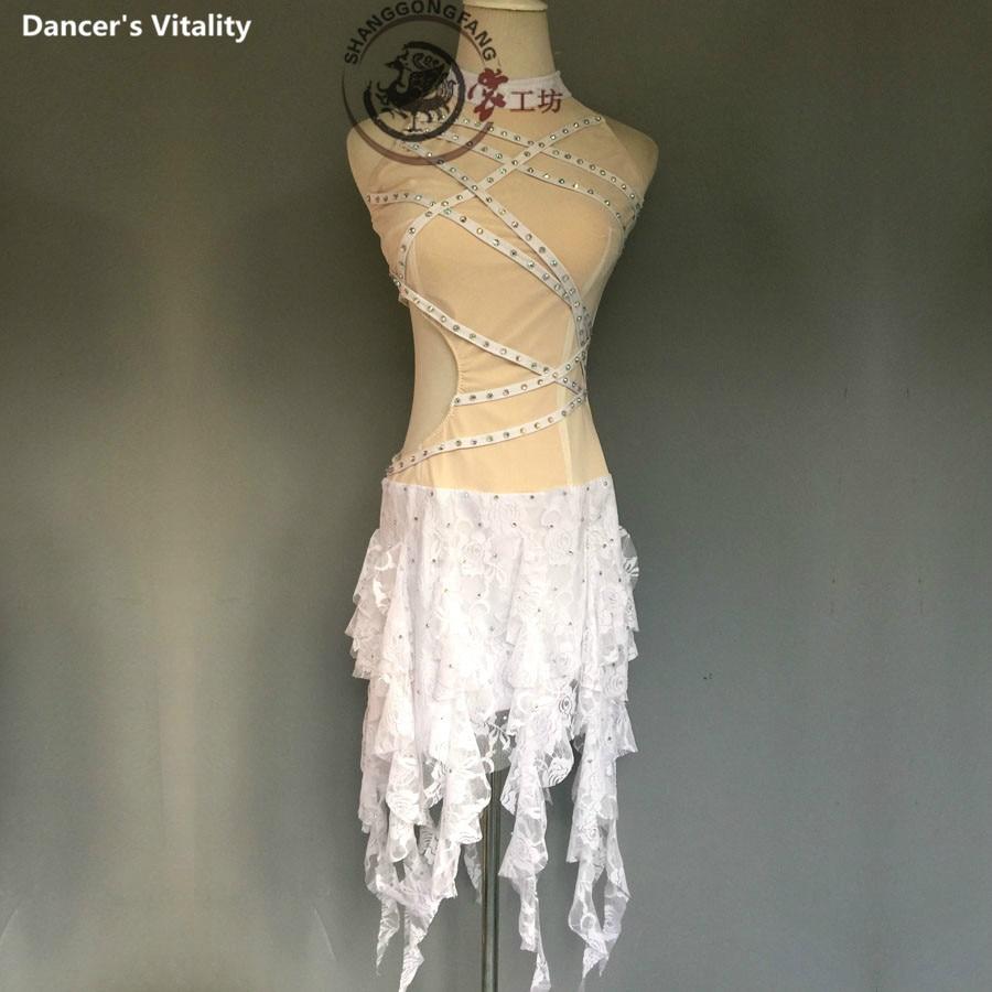 Luxury latin dance dress for women spandex sstones latin dance dress girls latin dance dress latin dance clothes 120-180cm