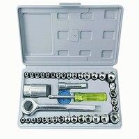 40pcs Socket Tool Manual Multifunctional Socket Wrench Set Household Mechanics Auto Repair Socket Spanner Hand Tool