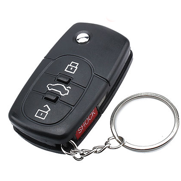 Mini Electric Shock Gag Joke Prank Car Key Remote Control Fun FJ88