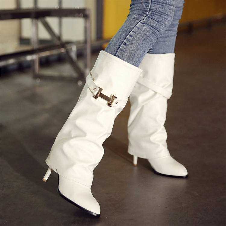 ФОТО 2017 Big Size 34-45 Hot Sale New Brand Fashion Women Riding Boots Leather Wedges Shoes Woman Autumn Winter Knee High Boots T737