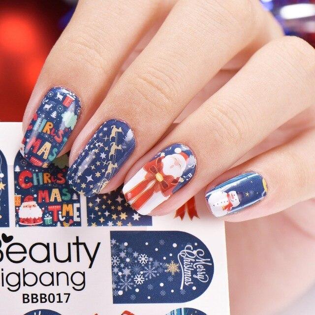 Beautybang 1pc Xmas Nail Stickers Decal Christmas E Deer Manicure Art Water Sticker
