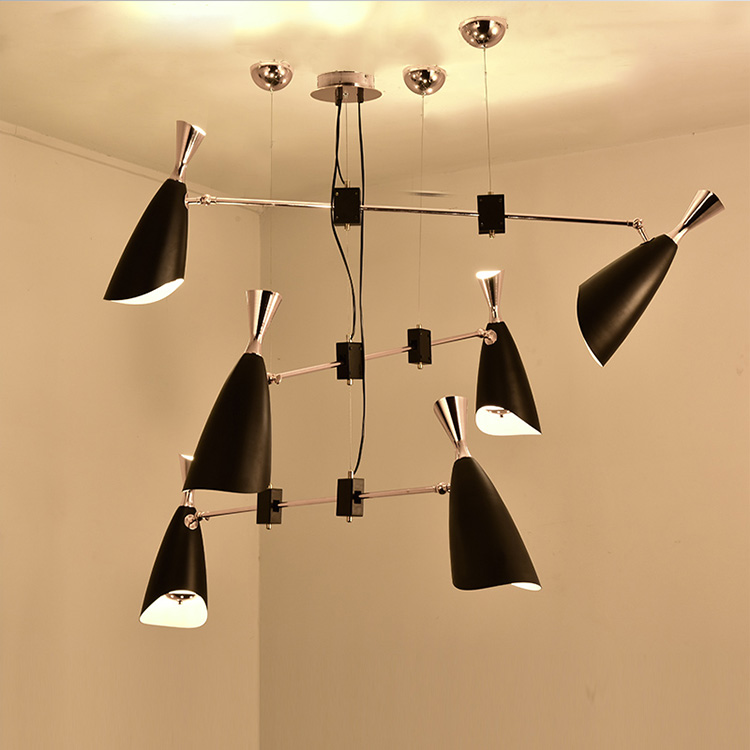 modern designer simple personality art Nordic dining room living room bedroom creative led villa trumpet Chandelier ZA FG757 6 e27 heads nordic post modern designer originality personality art living bed room cafe fashion led chandelier home decor light