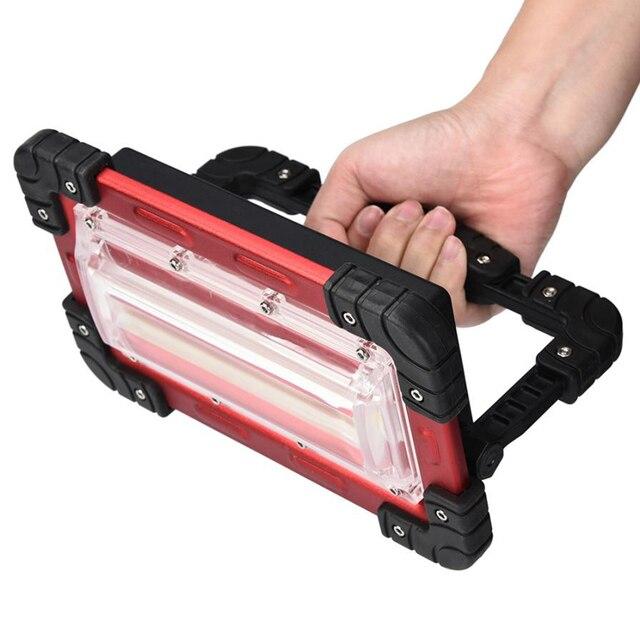 10 W Sạc COB LED Làm Đèn Lều Đèn Pin Ngoài Trời USB Power Bank 18650 Pin 3 chế độ 10 W 2400 lumens Ngoài Trời USPS