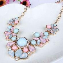Flower Collier Femme Bib Collar Short Choker Boho Statement Necklaces For Women Fashion Jewelry Bijoux 2016 New