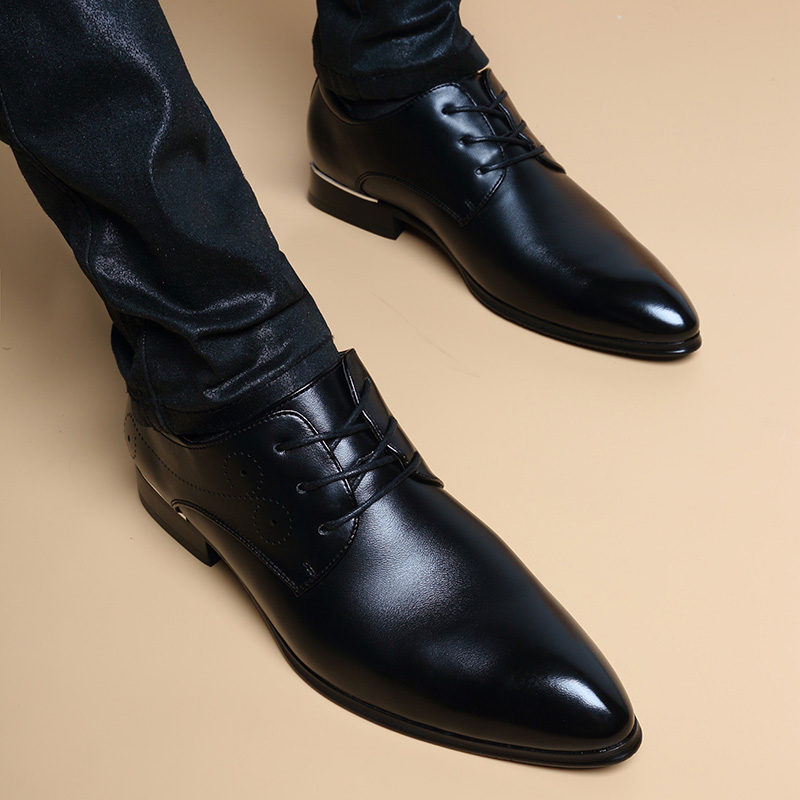 Plat Hommes Mariage Mode bleu Hole Bout Oxfords Style Soirée Up Pointu De As Aa12359 Angleterre Chaussures Robe D'affaires Lace Picture qIIWw6Ar