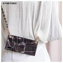 Granit Marmor iPhone crossbody Fall Abdeckung mit langen riemen kette Für iPhone 12 mini 11 PRO XS MAX XR X 8 7 plus Abdeckung Insta gute