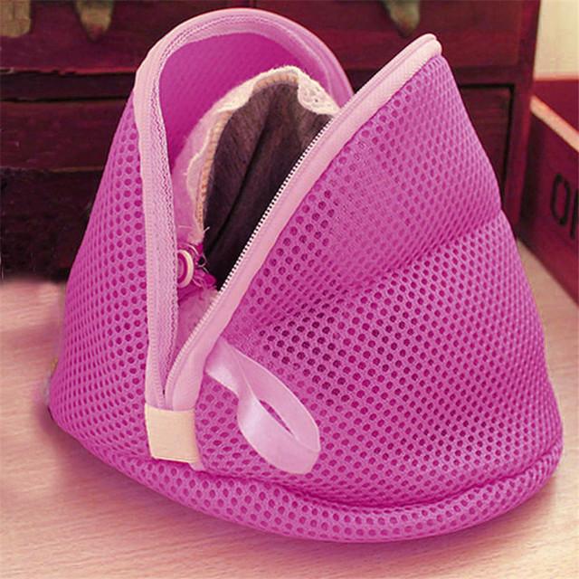 Women Clothing Bra Laundry Basket Bag Lingerie Washing Hosiery Saver Protect Mesh Small Bag Home Cleaning Use 2OR tanie i dobre opinie Poliester Czyszczenia Składany W strona główna 16 5cm*9cm 6 4 *3 5 As the pictures show