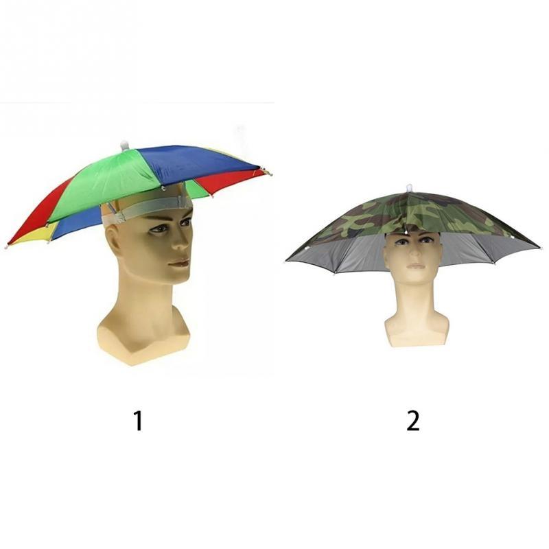 56f4f3a0ab4 2019 Umbrella Hat Sun Shade Camping Fishing Hiking Festivals Outdoor ...