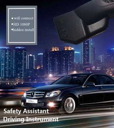 PLUSOBD Video Recorder For Benz A W176 Hidden Cam With Wifi HD 1080P Sony IMX 322 6G Lens WDR Car DVR Camera With OBD2 Adapter