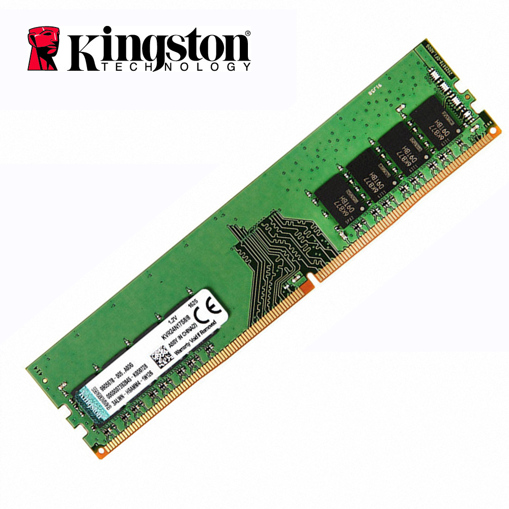 Kingston DDR4 RAM 8 GO 4 GO 2400 Mhz Memoria ram ddr 4 Bâtons PC4-2400 1.2 V SDRAM 288Pin 1Rx8 CL17 ordinateur de bureau gaming ddr4 16 go