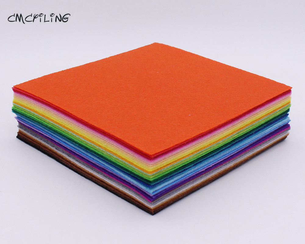 CMCYILING 40 Mix Colors 1mm Hard Felt Sheet Felt Craft For Felt DIY Craft Arts,Crafts & Sewing Scrapbook Hometextile 15cmX15cm