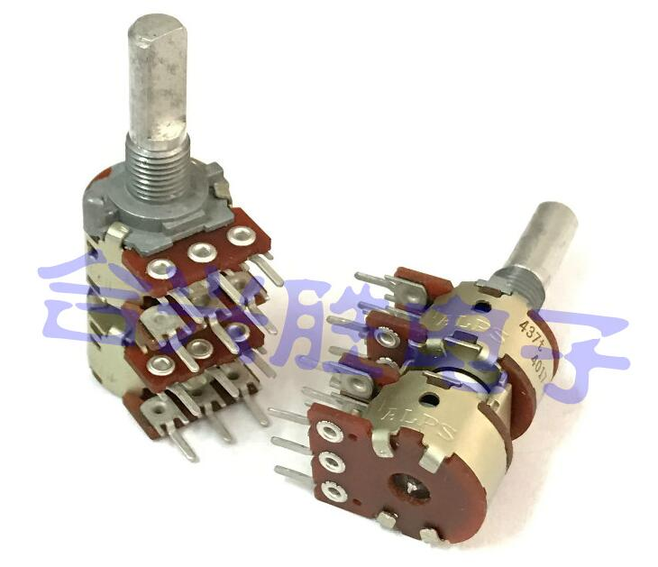 [VK]JAPAN ALPS 16 type potentiometer A50KX4 A50K generator level amplifier 12 feet 9 step points switch 2pcs bag alps brand rk14 potentiometer dual axis a50k long 18mm plastic 7 feet