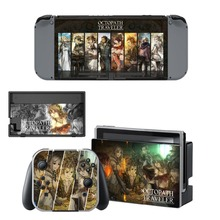 Nintend Switch Vinyl Skins Sticker For Nintendo Console and Controller Skin Set - Octopath Traveler