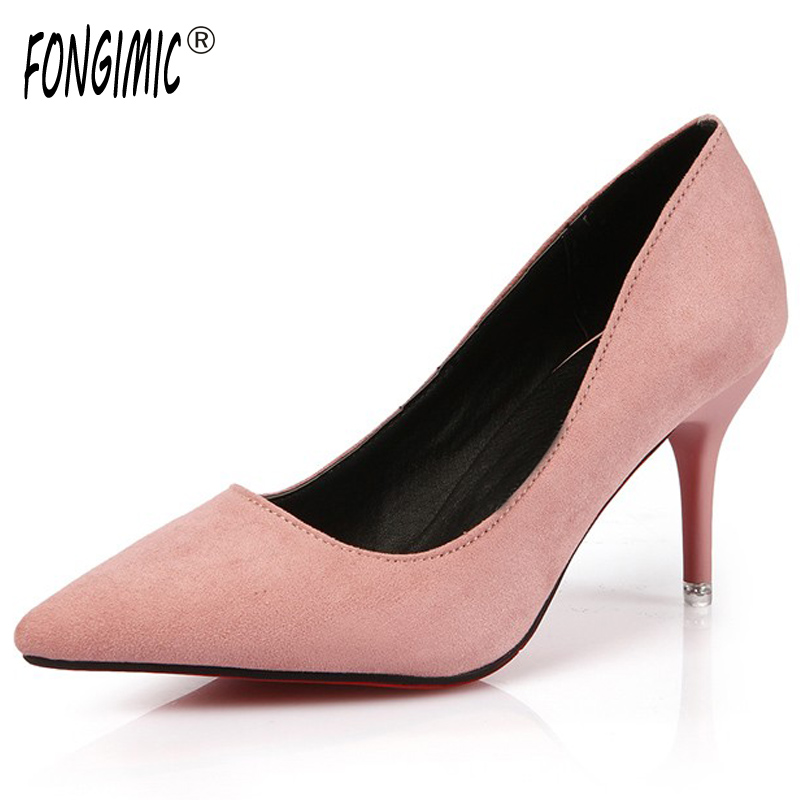 Spring summer high heels 2016 Korean thin heels with a fine pointed shallow mouth sexy wedding shoes wear comfortablesuede shoes 14cm sexy fine with nightclub shiny diamond high heels spring and autumn shallow mouth princess wedding shoes
