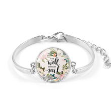 VILLWICE Fashion Psalm Bracelet Art Picture Print Glass Dome Charms Bracelet Bible Verse Quote Jewelry Gift For Christian cheap Charm Bracelets Zinc Alloy Unisex Lobster Classic Glue Round Link Chain Mood Tracker All Compatible XSL00X 20mm About 16+5cm (extend chain)