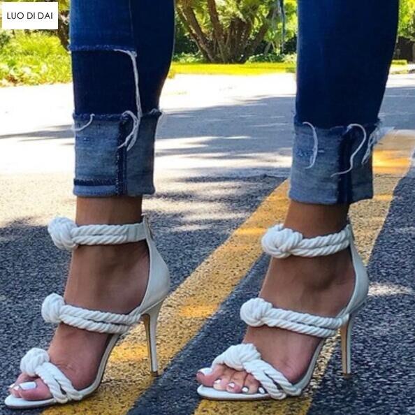 Bowtie Sandales Bout Soirée Talons Chaussures Talon 2019 Mode army Mince À blanc Spartiates Noir Noir Tricot Ouvert Habillées De Green Femmes Nouvelle Hauts wTC7pxq0