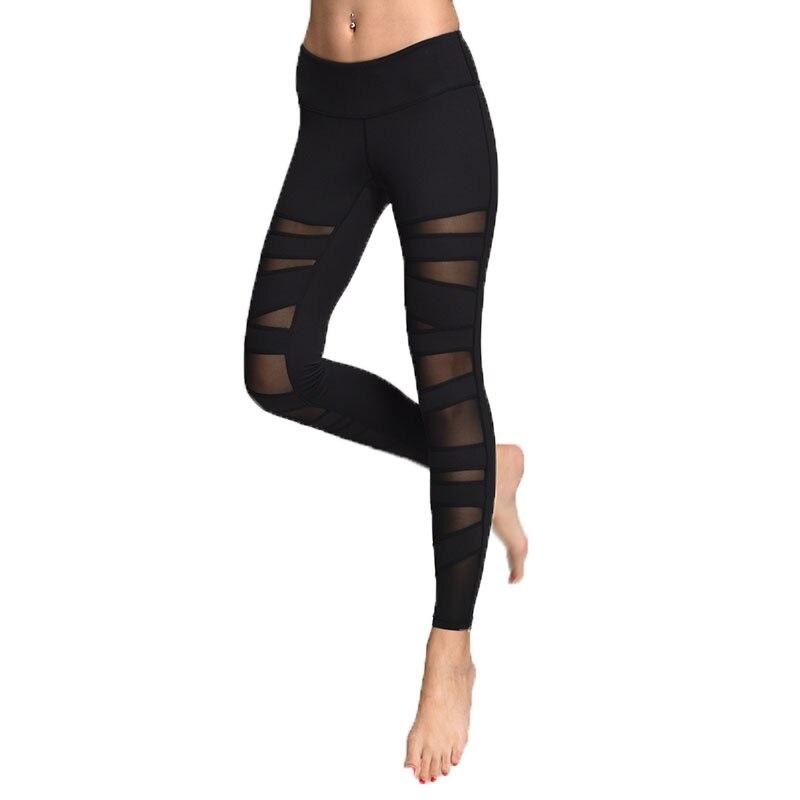 Prix pour En gros Femmes Maille Yoga Pantalon À Séchage Rapide yoga leggings Élastique Mince de Course Collants Femelle de Sport Workout Sport PantsNE-023