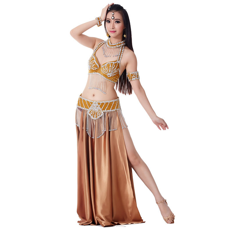 2019 New Performance Dancewear Bellydance Clothes Outfit B C Cup Satin Skirt Professional Women Egyptian Belly