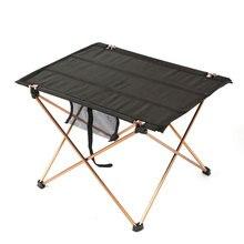 Mobiliário portátil dobrável, mesa de acampamento, piquenique 6061 liga de alumínio, ultra leve