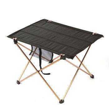 Na zewnątrz meble przenośne stół składany campismo stoliki turystyczne piknik 6061 ze stopu Aluminium ultralekki składane ogród biurko tanie i dobre opinie MAGIC UNION 56x43x38 cm SC247 Metal Nowoczesne Minimalist Modern Montaż Prostokąt Na zewnątrz tabeli Fabric Meble ogrodowe