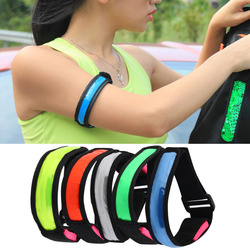 Arm warmers creative outdoor sports bicycle riding light night running led wrist band light reflective strip.jpg 250x250