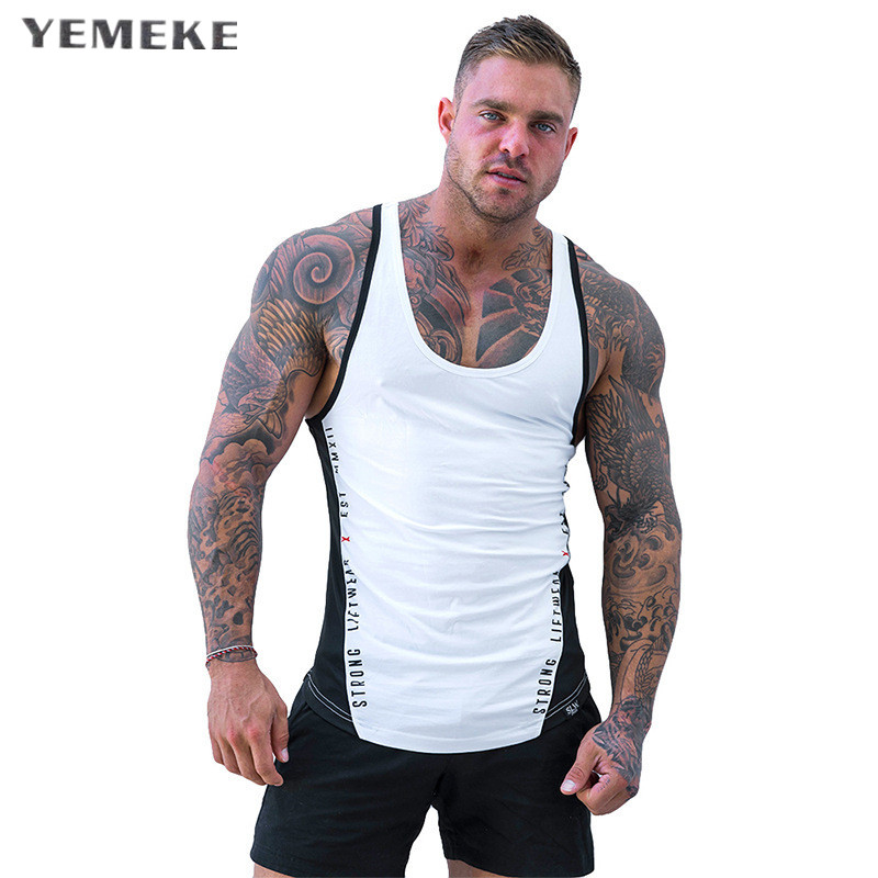 bbee2ecf67f90 2018 Men Summer gyms Fitness bodybuilding Hooded Tank Top fashion mens  Fashion clothing Loose breathable sleeveless