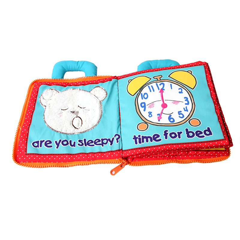 Cloth Books Baby Early Education Puzzle Kids Cartoon Flip Book