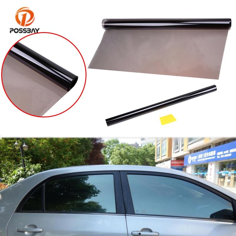 POSSBAY Car Sun Shade Solar Protection Car Window Film Auto Side Window Car Tinting 50*600cm 1% VLT UV Protect Film