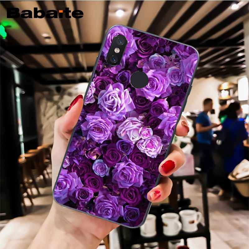 Babaite Sederhana Lavender Ungu Bunga Desain Ponsel Case untuk Xiaomi MiA1 A2 Lite F1 Redmi8 4X 5Plus S2 Note7 8Pro 5A 6A