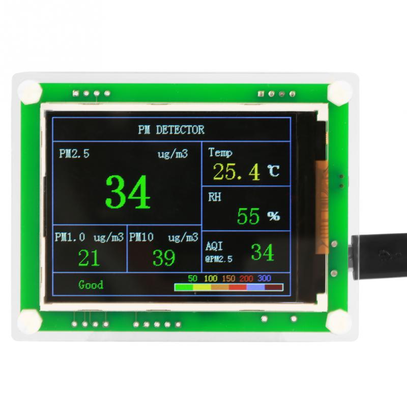 Gas Analysatoren Dc 5 V 2,8 digital Auto Pm2.5 Detektor Luft Qualität Detektor Monitor Aqi Hause Luft Monitor Erkennung Werkzeuge Mit Usb Kabel