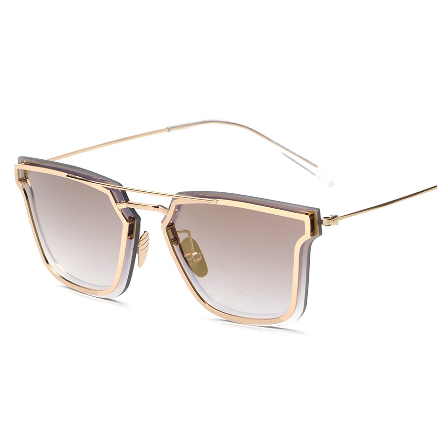 d70a8ec613c05 Flat Top Thin Rim Designer 0204S Men Women Sunglasses Pilot Shades ...