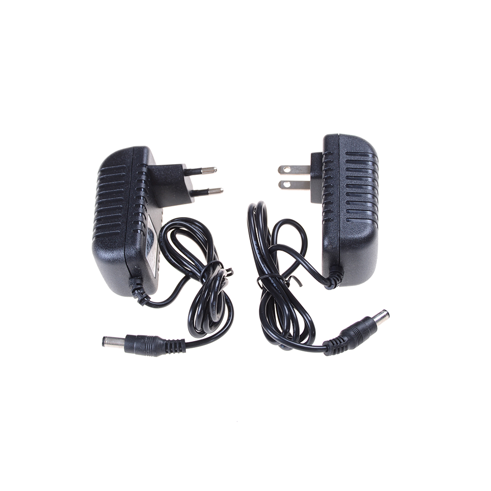 12V2A AC 100V-240V Converter <font><b>Adapter</b></font> EU/ US Plug 5.5mm x 2.1-2.5mm for LED CCTV DC <font><b>12V</b></font> 2A <font><b>2000mA</b></font> <font><b>Power</b></font> Supply image
