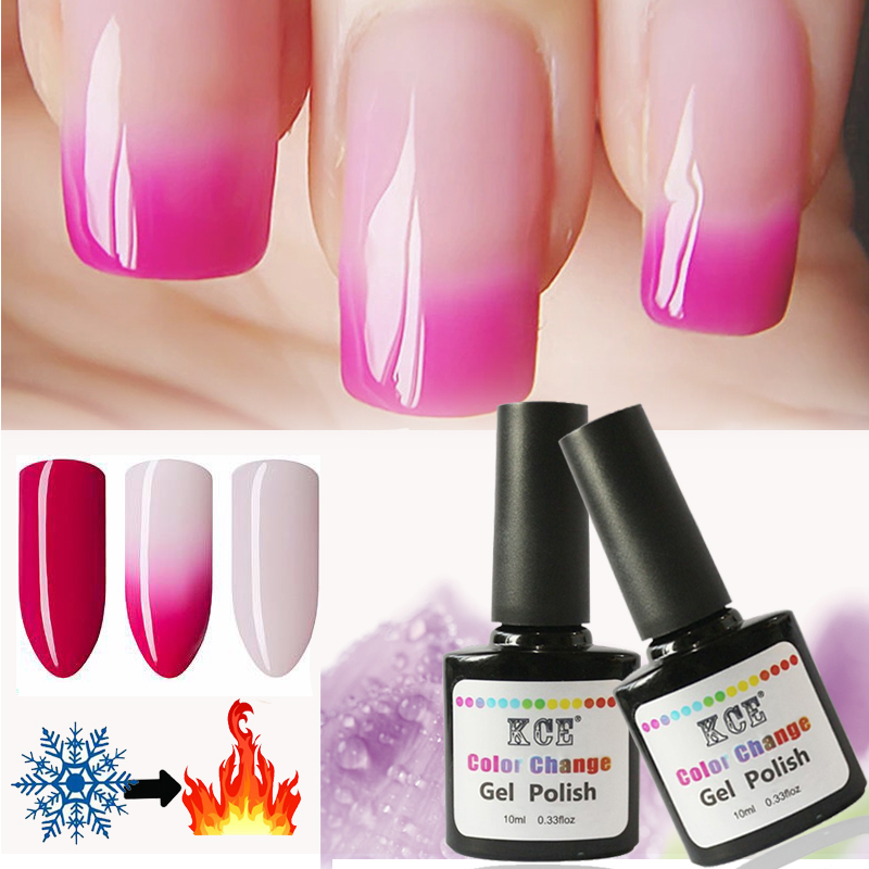 KCE Brands Nail Gel Polish Temperature Change Nail Color UV Gel ...